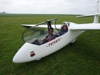 Safe landing at Bath Wilts & N Dorset Gliding Club