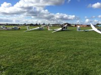 The aircrafts at Wolds Gliding Club