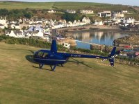 Our R44 before taking off