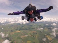 Skydiving over the fields