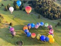 Hot air balloons in Bath