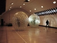 Zorbing in our gym