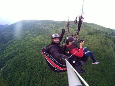 Two-seater paragliding flight, Guadalajara