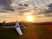 Beautiful sunset at London Gliding Club