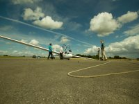 Preparing everything at Cotswold Gliding Club