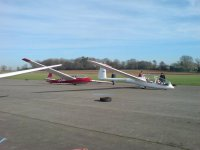 Gliders at Cotswold Gliding Club