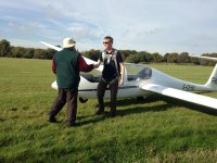 The handshake of approval of one the pilots at Surrey Hills Gliding Club