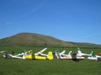 The gliders at Bowland Forest Gliding Club