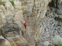Climbing in Pembroke, South Wales