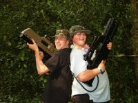 Enjoy laser tag with friends