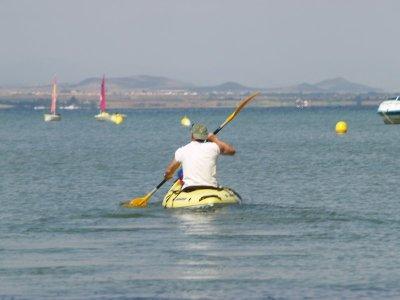 Two-seater kayak, Manga del Mar Menor, 1h