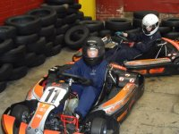 Racing round the track