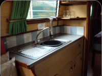 The galley area of �Swan�