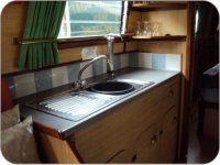 The galley area of ´Swan´
