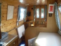 Inside one of our narrowboats