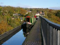 Elinor on the Aquaduct at Llangollen
