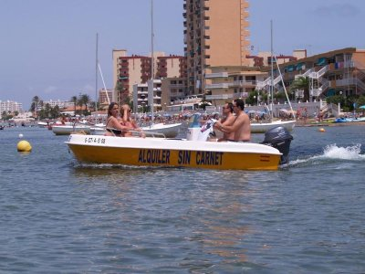 Boat Rental w/o License in La Manga, 3h