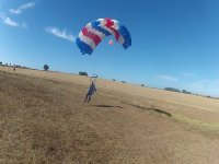 Landing a parachute