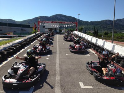 Karting round in Xeresa, 10 Minutes, adults offer