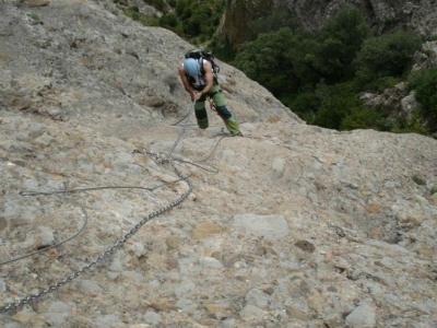 Via ferrata in Mirador de los Buitres level II 4h