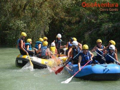 Family rafting on the Genil River Cuevas Bajas