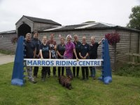 The staff of Marros Riding Centre