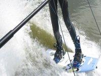 Beginner wakeboarder