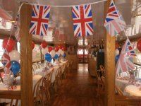 York Boat decorated for the Queen´s Jubilee