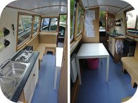 Inside one of our boats