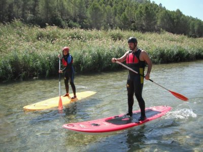 Paddle surf across Cabriel river 2 hours