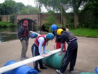 The instructor supervises the technical and safety aspects of the course