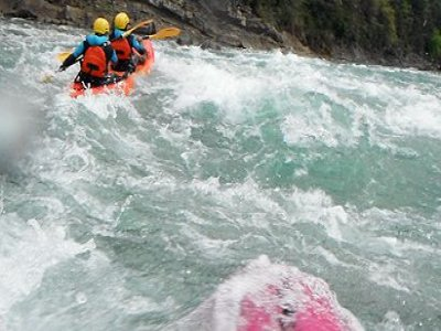Descent of the Ésera in Kayak, rough waters
