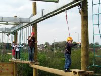 Adults and children love high ropes