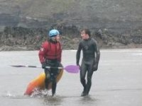 Instructor with his student