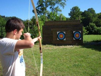 Canoeing + arrow shoot + bridge + menu