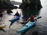 Kayaking on the coast