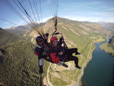 Paragliding flight, Sort, Valls d'Anneu and others