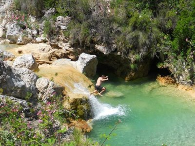 Canyoning in Rio Verde, difficulty medium´high