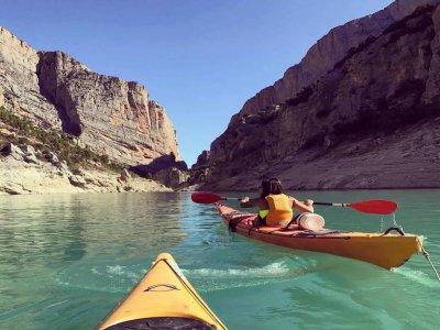 Kayak route through the Montrebei gorge
