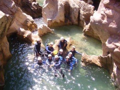 level I-II canyoning, Sierra Guara.