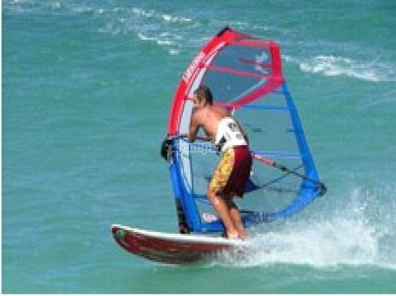 Advanced windsurfing lesson