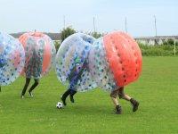 Bubble football adventure, South Devon