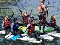Team paddle board tour - Salcombe Devon - Adventure South