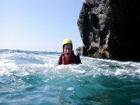 coasteering south devon - Salcombe Team activity