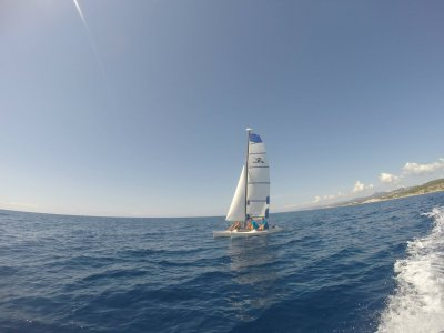 Catamaran Rental Without Captain in Calella, 2hrs