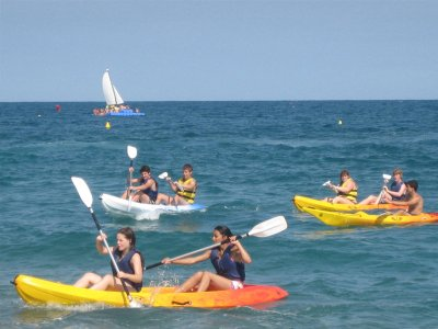 Kayaking in Calella. 1h
