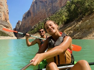 Canoe route and trekking Montsec mountains 5 h