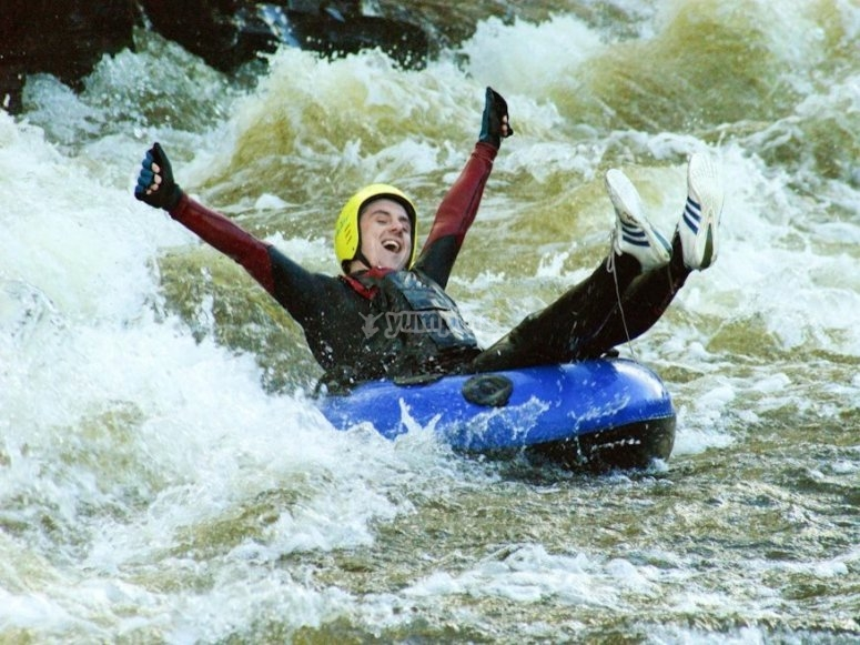 White water tubing is also available.