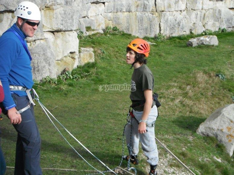 Climbing at Swanage