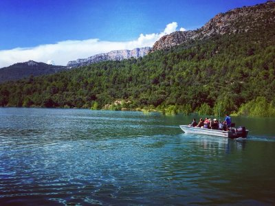 Boat route in Montsec, children offer